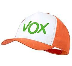 MERCHANDMANIA Gorra Naranja Logo Partido VOX Color Cap: Amazon.es: Deportes y aire libre
