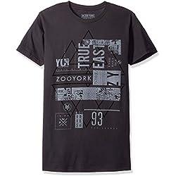 Zoo York Men's Short Sleeve Contempt T-Shirt, Smoke, Medium