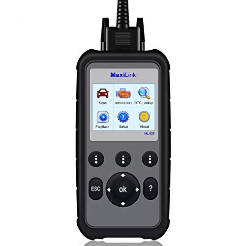 Autel MaxiLink ML629 CAN OBD2 Scanner Code Reader +ABS/SRS/Engine/Transmission Diagnostic Scan Tool, Turns Off Engine Light (MIL) and ABS/SRS Warning Lights, Upgraded Version of ML619 Scan Tool by Autel (Image #8)