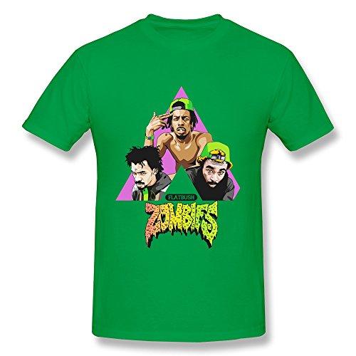 Men's Flatbush ZOMBiES Member Poster T Shirts Best Size L ForestGreen