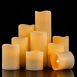 Enpornk Flameless Candles LED Pillar Battery Opera