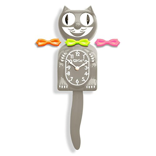 California Clock BC38 Kit Cat Klock Bc38 Grey Clock Modern A