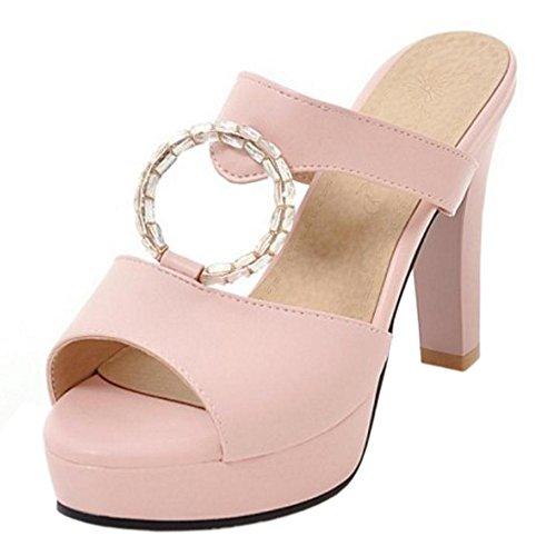On Slip Sandals KemeKiss Summer Pink Women 78qtSt