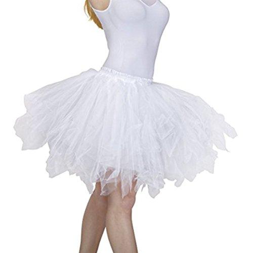 Mariage pour Tutu Jupon Filles Femme Couleurs Varie Oudan et Style Ballet Jupe Femme Annes Courte Jupe Blanc 50 qFSqwBO