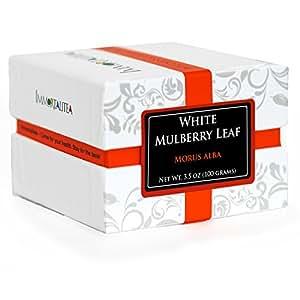 White Mulberry Tea - Blood Sugar Balance Herbal Loose Leaf Tea - Pure Morus Alba - Caffeine-Free - 3.5 Ounce