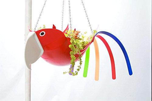 Hanging Bird Planter (Red Body Parrot)