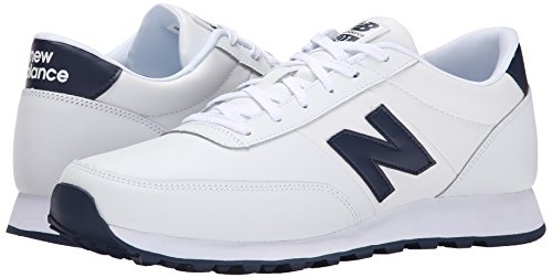 888546344532 - New Balance Men's NB501 Leather Collection Classic Running Shoe, White/Navy, 9 2E US carousel main 5