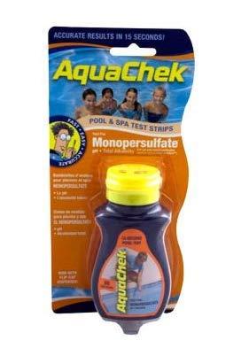 AquaChek Orange 561682A Swimming Pool Spa Monopersulfate 3-in-1 Test Strips - 50 by AquaChek