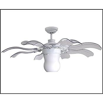 Vento Fiore 42 In. White Retractable Ceiling Fan by Vento