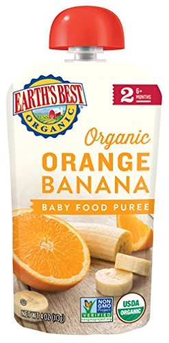 Stage 2 Antioxidant (Earth's Best Organic Stage 2, Orange & Banana, 4 Ounce Pouch (Pack of 12) (Packaging May Vary))