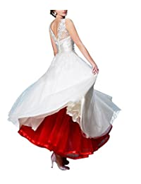 SDRESS Women's Retro Ankle Length Bridal Wedding Petticoats, Long Formal Dress Slips