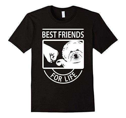 Mens Bichon Frise Best Friend For Life T-shirt Large Black
