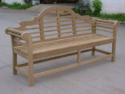 Atlanta Teak Furniture - Teak Lutyens Bench - 6'- - Garden Furniture Lutyens