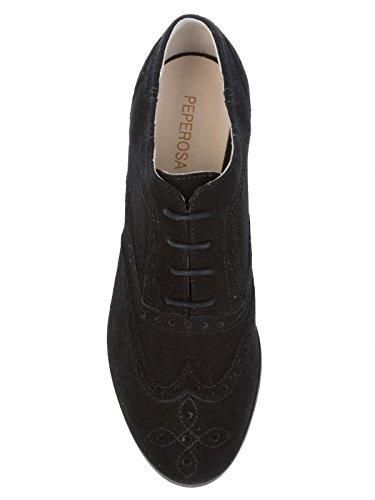 À N7101NERO Chaussures Noir Femme PEPEROSA Suède Lacets ng7qZvC