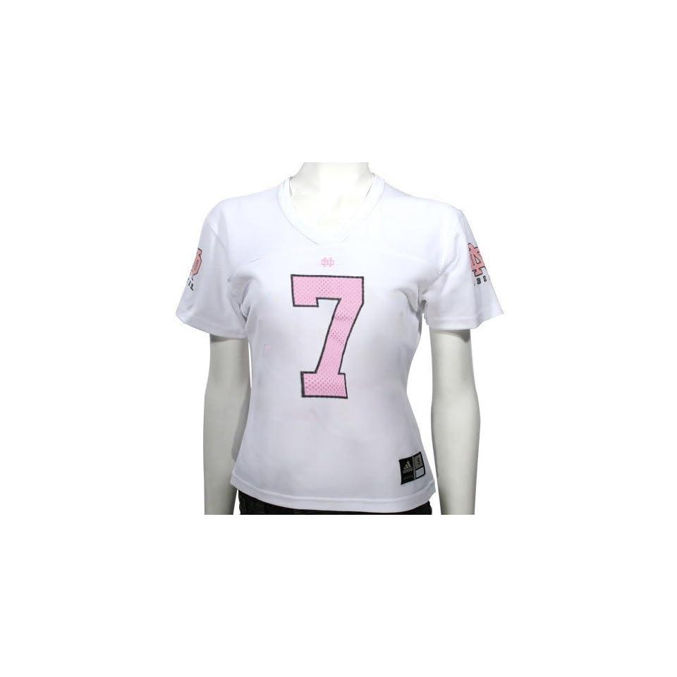 adidas Notre Dame Fighting Irish #7 Girls White Replica Football Jersey