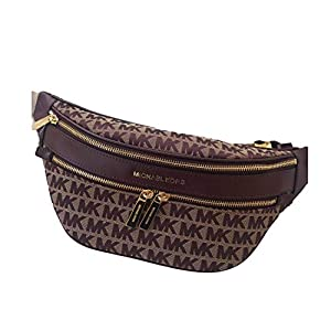 Kenly Medium Belt Bag Waist Pack Crossbody Bumbag Jacquard Logo Oxblood Logo