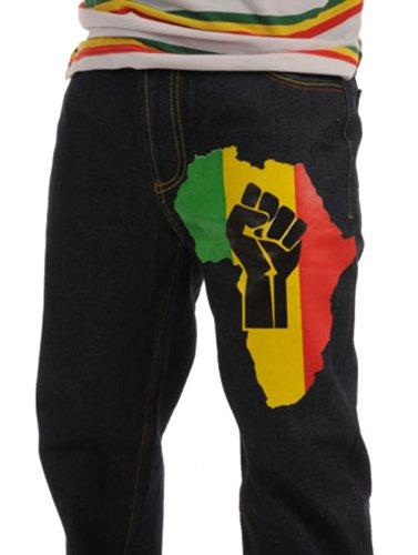 Giuda Jamaica Nero Energia Leone Rasta Jeans Rasta4real Di aFwxTUnx