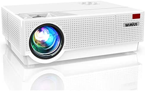 Projector, WiMiUS P28 Native 1920×1080 Video Projector 10000:1 Contrast Support 4K Zoom Dual 10W Speakers, 400'' Screen 4D ±50°Keystone Correction for Home Theater and Outdoor Movie