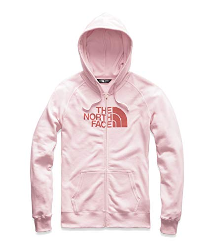 The North Face Women's Half Dome Full-Zip Hoodie, Pink Salt Heather/Spiced Coral, Size XXL (North Face Xxl Hoodie)
