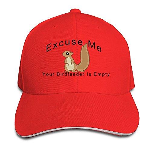 Peak Excuse Me Your de girasol es vacío ardilla Sandwich gorra para hombre Rojo