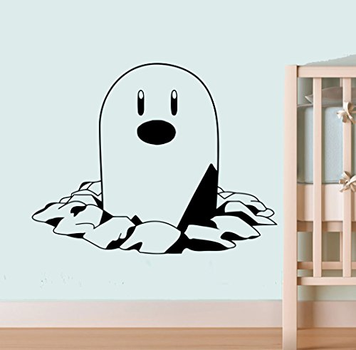 №050 Diglett Art Vinyl Sticker Pokemon GO Wall Sticker Pokemon Wall Vinyl Decal Home Interior Decor Nursery Image - Store Go Duke