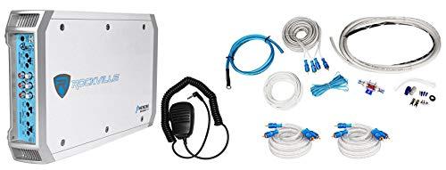 (Rockville RXM-F3 1600 Watt Peak/800w RMS Marine/Boat 4 Channel Amplifier+Amp Kit)