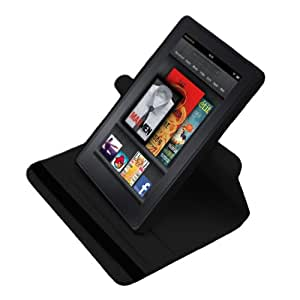 MiniSuit 360 Rotating Case Slim Leather Multi-View-Angle Stand case cover (Black) for Amazon Kindle Fire 7-Inch Android Tablet