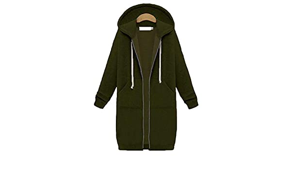 Amazon.com: Carolyn Jones Womens Winter Jackets Zipper Outwear Long Sleeve Hooded Coat Plus Size Warm Zip-Up Army Green S: Clothing