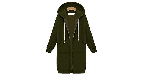 Amazon.com: Carolyn Jones Womens Winter Jackets Zipper Outwear Long Sleeve Hooded Coat Plus Size Warm Zip-Up Army Green S: Clothing