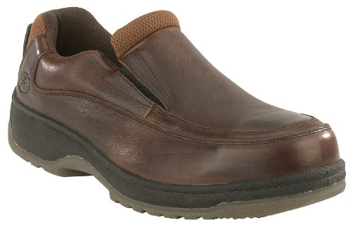 Florsheim Womens Dark Brown Leather Casual Oxford Lucky Steel Toe 8.5 D