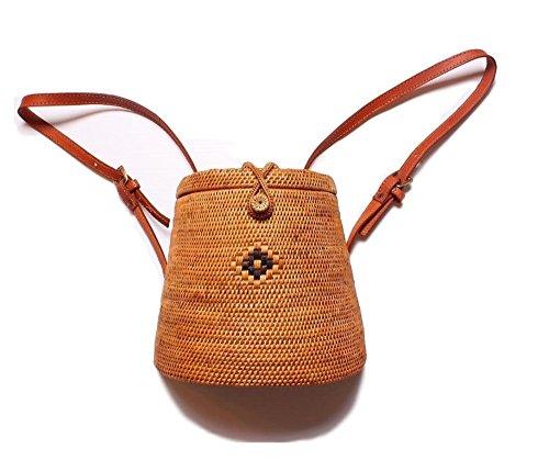 Handwoven Backpack Rattan Bag