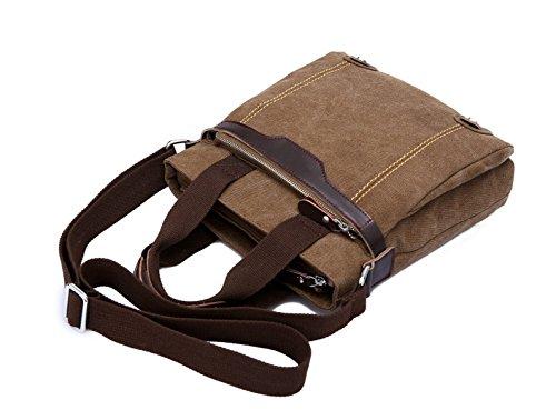 LAIDAYE Männer Schulter Tasche Messenger Business Freizeit Mehrzweck- Reiserucksack Blue