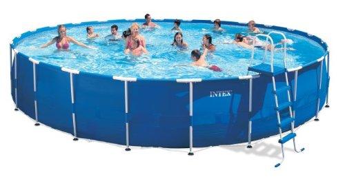 Intex metal frame pool set 24 feet by 52 inch buy for Albercas de plastico intex
