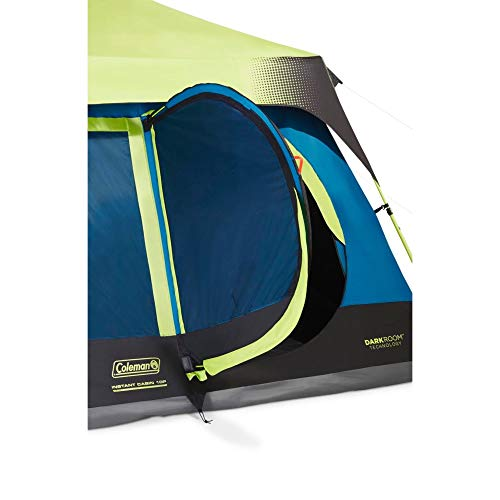 Coleman 10-Person Dark Room Instant Cabin Tent with Rainfly, Green/Black/Teal