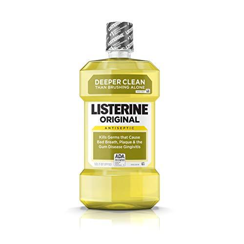Listerine (1 Liter) Orig Size 33.8z Listerine Original Antiseptic Mouthwash Gold 1 Liter (33.8 Fl. Oz.)