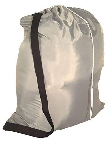 Owen Sewn Heavy Duty 40inx50in Nylon Laundry Bag with Strap - Grey