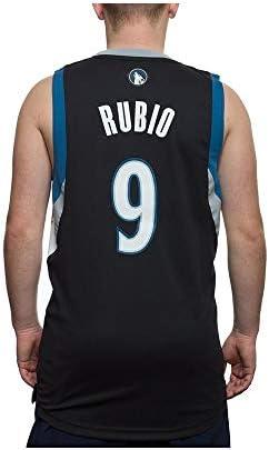 adidas L76315 Camiseta NBA Swingman Ricky Rubio Minnesota Timberwolves, azul y negro, xx-small: Amazon.es: Deportes y aire libre