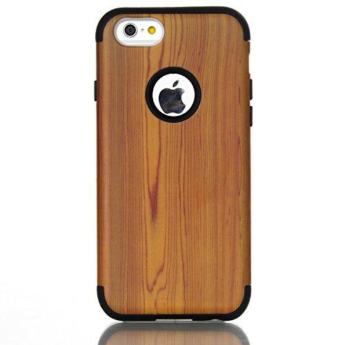 [해외]아이폰 6S 케이스, XRPow 아이폰 6 4.7 인치 목재 스타일 충격 흡수 유연한 내구성 TPU 범퍼 커버 내구성 안티 슬립 프론트 + 백 하드 PC Defensiv/iPhone 6S Case, XRPow iPhone 6 4.7inch Wood Style Shock-absorbing Flexible Durability TPU Bum...