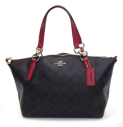 Coach Women's Signature Light Weight Small Kelsey Satchel No Size (Im/Brown True Red)