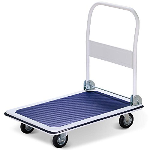 Moveable Platform - go2buy Folding Platform Cart Moveable Dolly, 35.8 x 24 x 35'' (LxWxH), with 4 Heavy Duty Rolling Casters, Blue