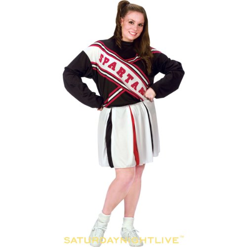 SNL Spartan Cheerleader - Plus Size 1X/2X - Dress Size (Best Movie Couple Costumes)