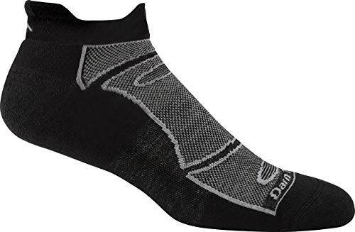 Darn Tough Men's No-Show Light Cushion Athletic Socks, (Style 1722) - 6 Pack, Black - Large