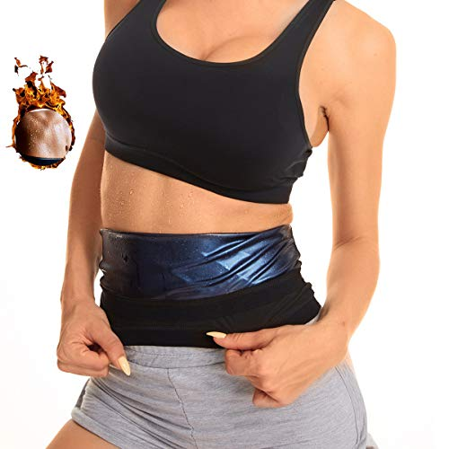 Evenriver Shaper Waist Trimmer for Women, Waist Trainer Sweat Workout Sauna Belt, Neoprene-Free Waist Cincher, Sauna…