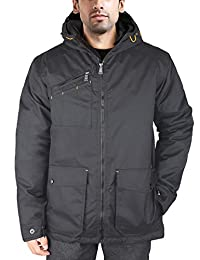 Hard Land Men's Heavy Insulated Parka Hooded Waterproof Outdoors Winter Jacket