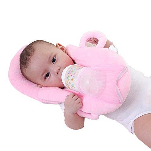 Baby Portable Detachable Feeding Pillows Self-Feeding Support Baby Cushion Pillow (Pink)