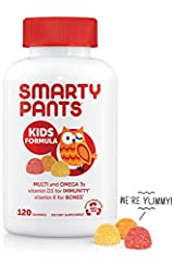 SmartyPants Kids Formula is a multifunctional gummy multivitamin that contains more of the nutrients parents want in a delicious format that kids love! Each serving delivers a robust blend of vitamins and nutrients including omega-3 EPA and D...