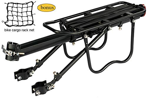 Discover Bargain Dirza Rear Bike Rack Bicycle Cargo Rack Quick Release Adjustable Alloy Bicycle Carr...