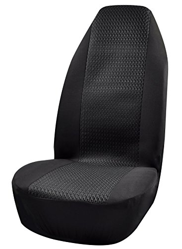 Auto Bucket Seat Cover Front Black Universal Durable Practical Seat Covers for SUV Trucks Car