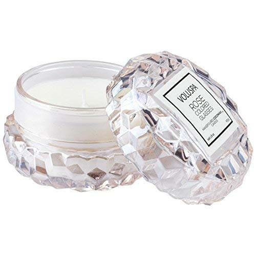 Rose Coloured Glasses - Voluspa Rose Colored Glasses Macaron Textured Glass Candle, 1.8 Ounces