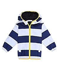 Arshiner Kids Waterproof Jacket Raincoat Trench With Hooded